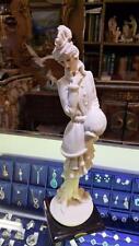 GIUSEPPE ARMANI FLORENCE SCULTURE PORCELAIN FIGURINE CAPODIMONTE LADY MUFF 408F