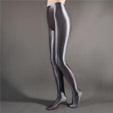 Plus Women SHINY LIQUID WET LOOK Tights Satin Glossy Semi Opaque Pantyhose M-XL