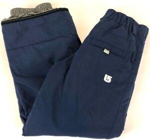 Burton Girls Snowboard Pants Blue Insulated Waterproof Pull On L 14-16