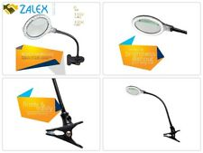 Task Lamp With Magnifier Clamp Reading Magnifying Glass Workbench Ultra Bright