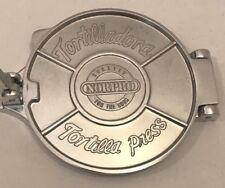 "Norpro Tortilladora Tortilla Press Maker Heavy Cast Aluminum Corn Flower 6"""