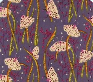 Windham Fabrics Heather Ross 20th Anniversary Twilight Moths Cotton Quilt Fabric