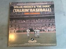 WILLY, MICKEY & THE DUKE. TALKIN' BASEBALL LP. LIMITED