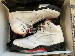 Air Jordan Retro 5 Fire Red Silver Tongue 2020 Mens Size 10.5 DA1911-102