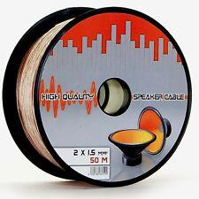 50m 2x1,5mm² Hifi Lautsprecherkabel Boxenkabel Audio Box Kabel Lautsprecher 50 m