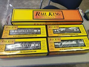 Rail King Texas & Pacific 4-8-2 L-3  Steam Engine, RK-1114L+ 4 Passenger cars