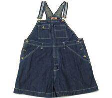 Denim Bib Shortalls Womens Sz XL Jean Shorts Dark Wash Fargo Clothing Co EUC