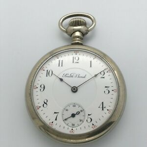 Antique 1911 South Bend Grade 211 17J 16s Open Face Pocket Watch
