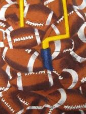 Mens Necktie Footballs & Goal Posts Sports Tie Hand Crafted In Amana Colonies O
