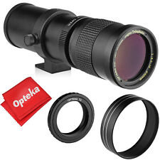 Opteka 420-800mm f/8.3 Telephoto Zoom Lens for Sony Alpha A Mount DSLR Cameras