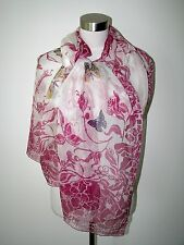 AUTHENT EMILIO PUCCI FLOWERS&BUTTERFLIES SIGNATURE 100% SILK 25X76 SCARF/SHAWL