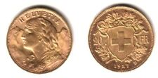 SWISS 1927 LUSTROUS BU---A PRE WW-TWO DATE SCARCE NEAR MELT GOLD  20 FRANC  COIN