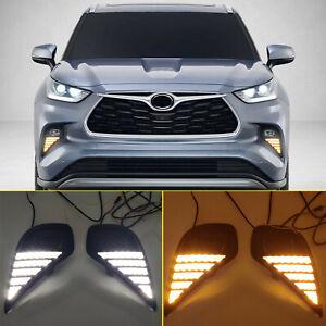 For Toyota Kluger XU70 2020 2021 Car LED Front Fog Light Reflector DRL Light