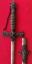Rare Antique FCB Knights of Pythias Fraternal Ceremonial Masonic Sword Saber