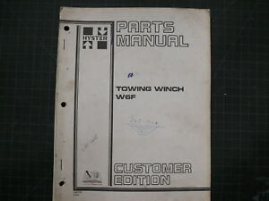 Hyster W6F TOWING WINCH Parts Book Manual CAT 1984 LIST catalog caterpillar D6