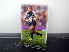 ✺Signed✺ MATTHEW BOWEN Photo & Frame PROOF COA Cowboys NRL 2017 Jersey