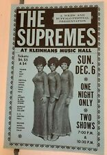 The Supremes Kleinhans Music Hall 1970 Original Concert Handbill Solid Condition