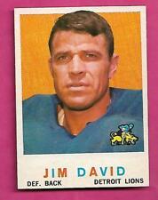 1959 TOPPS # 143 LIONS JIM DAVID  NRMT+  CARD (INV# C0417)