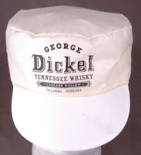 Vtg George Dickel Tennessee Whiskey Painter Hat-Cascade Hollo Tullahoma TN-White