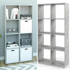 VICCO Raumteiler SCUTUM 8 Fächer Grau Beton - Bücherregal Standregal Wandregal
