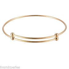 1 Bracelet Argenté Rigide Simple Réglable Mince Femmes Bijoux Accessoire Mode