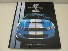 ORIGINAL 2010 FORD MUSTANG SHELBY GT500 PACKAGING GUIDE SALES BROCHURE