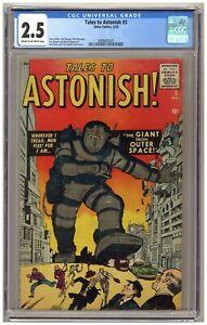 Tales to Astonish #3 (CGC 2.5) Steve Ditko; Jack Kirby; Atlas Comics; 1959 A416