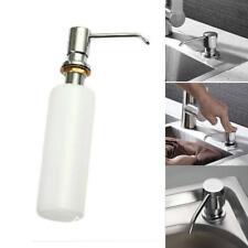 White Built In Pump Sink Dish Soap Dispenser 300ml For Home Kitchen Bathroom L