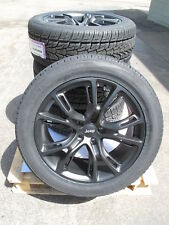 "20"" NEW JEEP GRAND CHEROKEE SRT8 STYLE 20x9 SATIN BLACK RIMS 9113 TIRES SET 4 J"