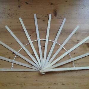 Bamboo Hand Fan Staves 16 inch making feather silk fans Burlesque DIY Costume
