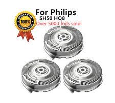 3 x Heads Razor Blades Compatible Philips Norelco SH50/51/52 5000 HQ8 Series UK