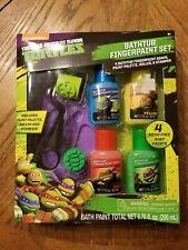 Toddler Bathing Fun, New Ninja Turtle Fingerpaint Set, 4 Mess- Free Soap Paints
