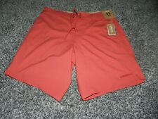"NWT MEN'S PATAGONIA LIGHT & VARIABLE BOARD SHORTS 50+ UPF STATIC RED 33"" WAIST"