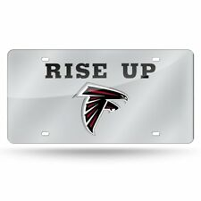 """NFL ATLANTA FALCONS """" RISE UP"""" SILVER  AUTO LASER TAG BY  RICO"""