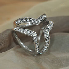 Women's Fashion Scarf Ring with Diamonds Buckles for Silk Square Scarves
