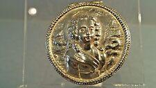 Dutch hanau silver pill box with profile of a lady full pseudo hallmarks