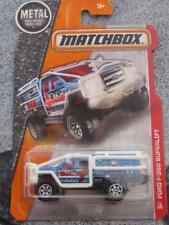 Matchbox 2016 #073/120 FORD SUPERLIFT F-350 blue MBX HEROIC RESCUE LONG CARD