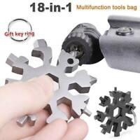 Snowflake 18-1 Multi Tool Snow Flake Steel Shape Flat Cross Household Hand Tool~