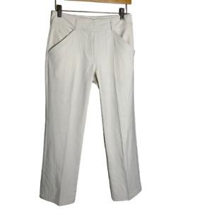 Nike Golf Fit Dry Performance Pants Women's Size 4 Beige Stripe Pockets