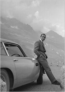 Sean Connery James Bond 007 Aston Martin Poster Art Print A0 A1 A2 A3 A4 Maxi