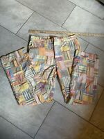 Action Ease By Lord Jeff Patchwork Pants Retro Vntg 70s Bootcut Size ~33/34x30