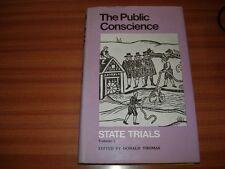 THE PUBLIC CONSCIENCE STATE TRIALS VOLUME 2  DONALD THOMAS HARDBACK 1ST EDITION