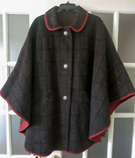 Very Cool Buttoned 100% Wool Cape Coat
