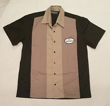 Rockabilly Men's Bowling Garage Style Tri Panel Shirt Rock n' Roll Dice > size M