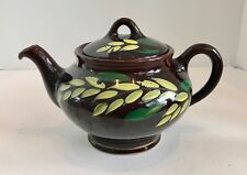 Vintage Royal Canadian Art Pottery Yellow Flower 6 Cup Royal Dripless Teapot