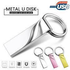16GB/32GB/64GB Metal U Disk USB 2.0 Flash Drives Memory Stick Pen Drive Keychain