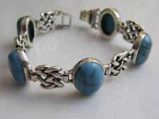 Styles Bracelet Silver Turquoise Celtic