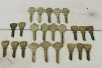 Lot Uncut Keys Vintage Yale Maltese Cross Ilco Dog ear Hobby Craft Locksmith