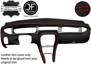 RED  STITCH FULL DASH DASHBOARD REAL LEATHER COVER FOR JAGUAR X-TYPE 2001-2009