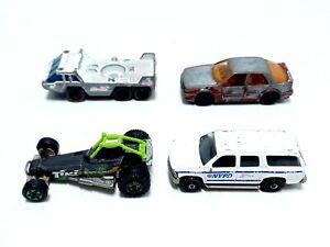 Vintage MATCHBOX Cars 1985 Transporter / 1987 Saab / 1999 NYPD / 2006 Dune Buggy